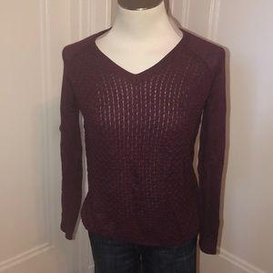 Banana Republic maroon v-neck sweater size S